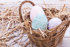 Beautiful easter egg decoration colorfull eggs seasonal pastel Stock Image