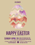 Beautiful easter egg flyer invitation Stock Photography