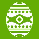 Beautiful easter egg icon green Royalty Free Stock Photo