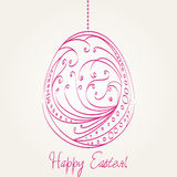 Beautiful Easter egg illustration Royalty Free Stock Images