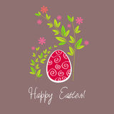 Beautiful Easter egg illustration Royalty Free Stock Photography