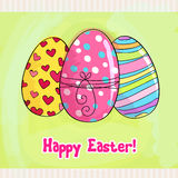 Beautiful Easter egg illustration Stock Images