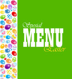 Beautiful Easter Egg Menu Vector Illustration Royalty Free Stock Photography