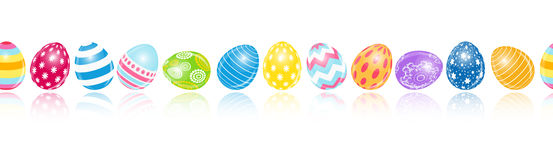 Beautiful Easter Egg Seamless Pattern Background Royalty Free Stock Images