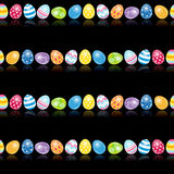 Beautiful Easter Egg Seamless Pattern Background Stock Photos
