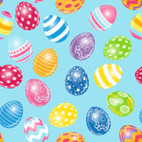 Beautiful Easter Egg Seamless Pattern Background Royalty Free Stock Photos