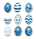 Beautiful Easter Egg Set Vector Illustration Stock Photos