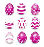 Beautiful Easter Egg Set Vector Illustration Royalty Free Stock Photos