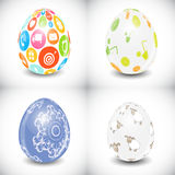Beautiful Easter Egg Set Vector Illustration Stock Photo