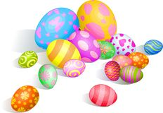 Beautiful Easter eggs Royalty Free Stock Photography