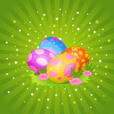Beautiful Easter Eggs Background Royalty Free Stock Photo