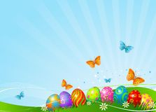 Beautiful Easter eggs background Royalty Free Stock Images