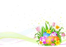 Beautiful Easter eggs background Royalty Free Stock Photography