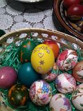 Beautiful Easter Eggs Different Colors stock image