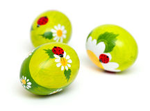 Beautiful Easter eggs Stock Images
