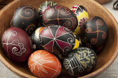 Beautiful Easter eggs painted Royalty Free Stock Photos
