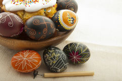 Beautiful Easter eggs Royalty Free Stock Photo