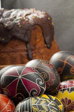 Beautiful Easter eggs painted Stock Photography