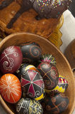 Beautiful Easter eggs Stock Photo