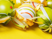 Beautiful Easter eggs stock image