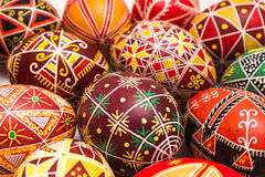 Beautiful Easter eggs with pattern for holiday Royalty Free Stock Photography