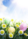 Beautiful Easter greetings Stock Photo
