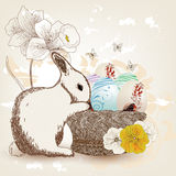 Beautiful Easter postcard Stock Images
