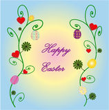 Easter postcard. Beautiful Easter postcard with eggs Royalty Free Stock Photo