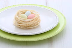 Beautiful easter setting Stock Photo