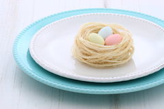 Beautiful easter setting Stock Images