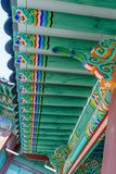 Beautiful eaves of House in Gyeongbok Palace, Seoul. Korea Royalty Free Stock Image