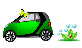 Beautiful eco car Stock Photos
