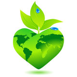 Beautiful eco globe Stock Photography