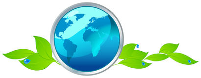 Beautiful eco globe Royalty Free Stock Image