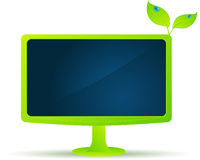 Beautiful eco monitor Royalty Free Stock Photo