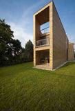 Beautiful ecologic house. Outdoors view Stock Image