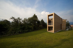 Beautiful ecologic house. Outdoors view Stock Images