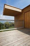 Beautiful ecologic house. Veranda view Stock Photography