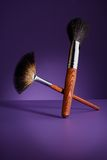 Beautiful effective makeup brushes Stock Image