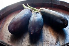 Beautiful eggplant ready to be cooked Stock Photos