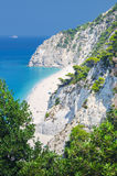 Beautiful Egremni beach. Lefkada, Greece Royalty Free Stock Image
