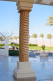 Beautiful Egyptian column in hotel Royalty Free Stock Photography