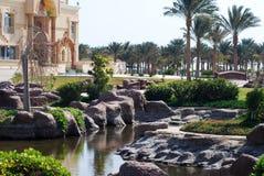Beautiful egyptian hotel Stock Photography
