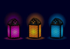 Beautiful Egyptian lamps - Vector Stock Image