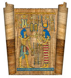 Beautiful egyptian papyrus. With elements of ceremonial ornament Royalty Free Stock Photo