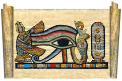 Beautiful egyptian papyrus. With elements of ceremonial ornament Stock Images