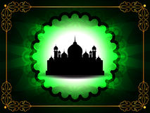 Beautiful eid background with golden frame Stock Photos