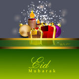 Beautiful Eid Mubarak greeting card. Royalty Free Stock Photos
