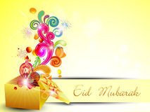 Beautiful Eid Mubarak greeting card. EPS 10. Stock Photography