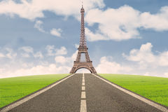 Beautiful Eiffel Tower in Paris Royalty Free Stock Photography